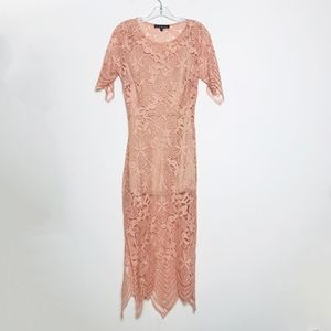 For Love And Lemons Dusty Pink Lace Dress